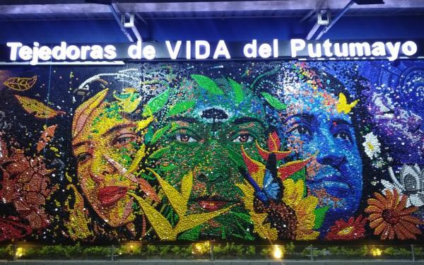 Murales en memoria de las mujeres que resistieron en Putumayo