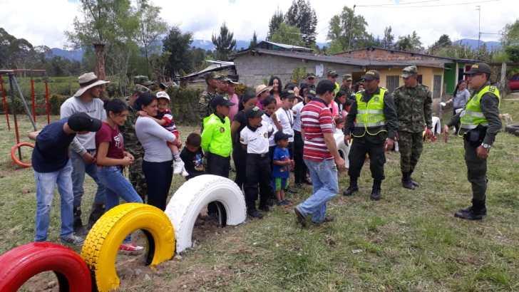 Policía Nacional comprometida con la recuperación de parques en el Putumayo