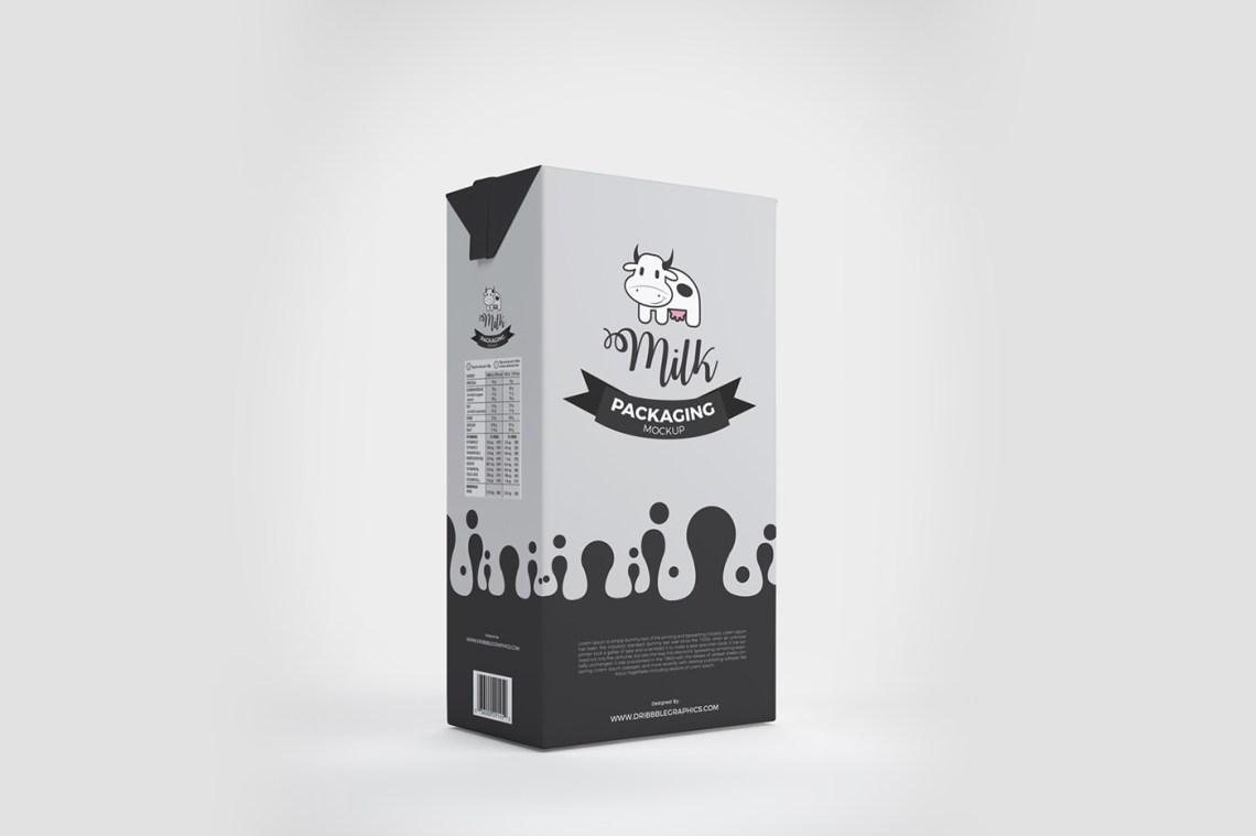 Download Free Milk Box Packaging Mockup on Behance