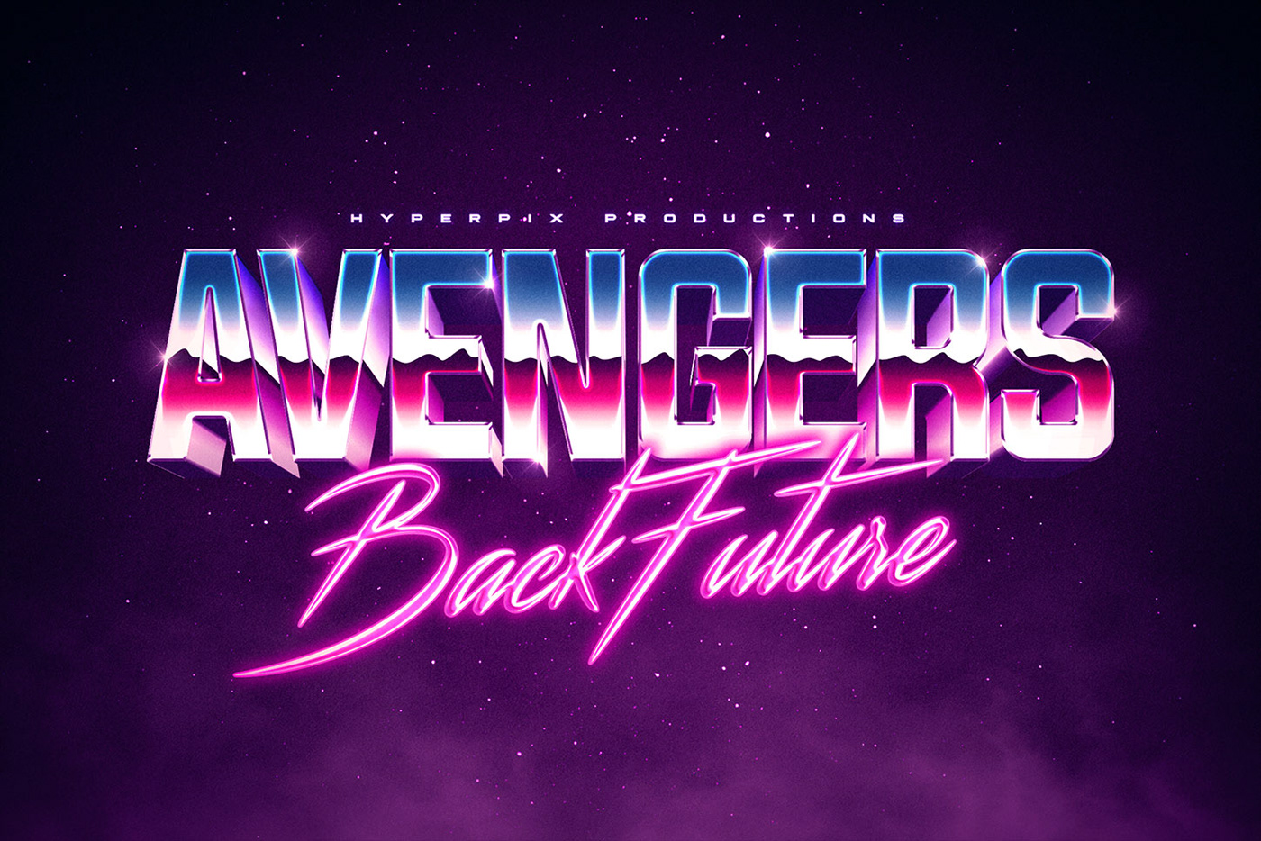 Synthwave Retro Text and Logo Effect Vol.2 PSD Template on Behance