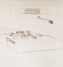 guitar pedal organizer prototype [ 1400 x 1073 Pixel ]