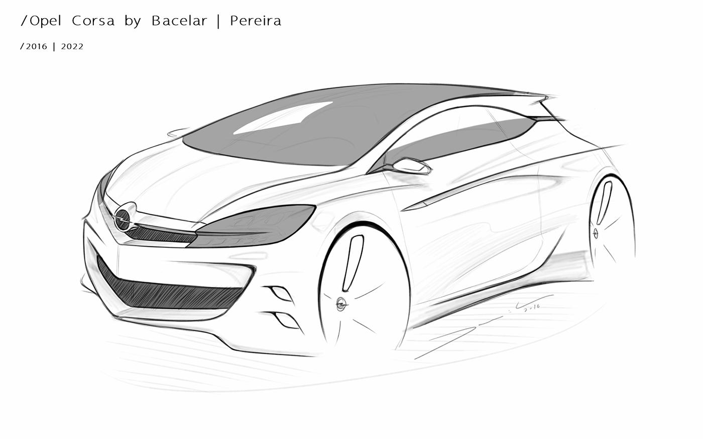 Opel Corsa F on Behance