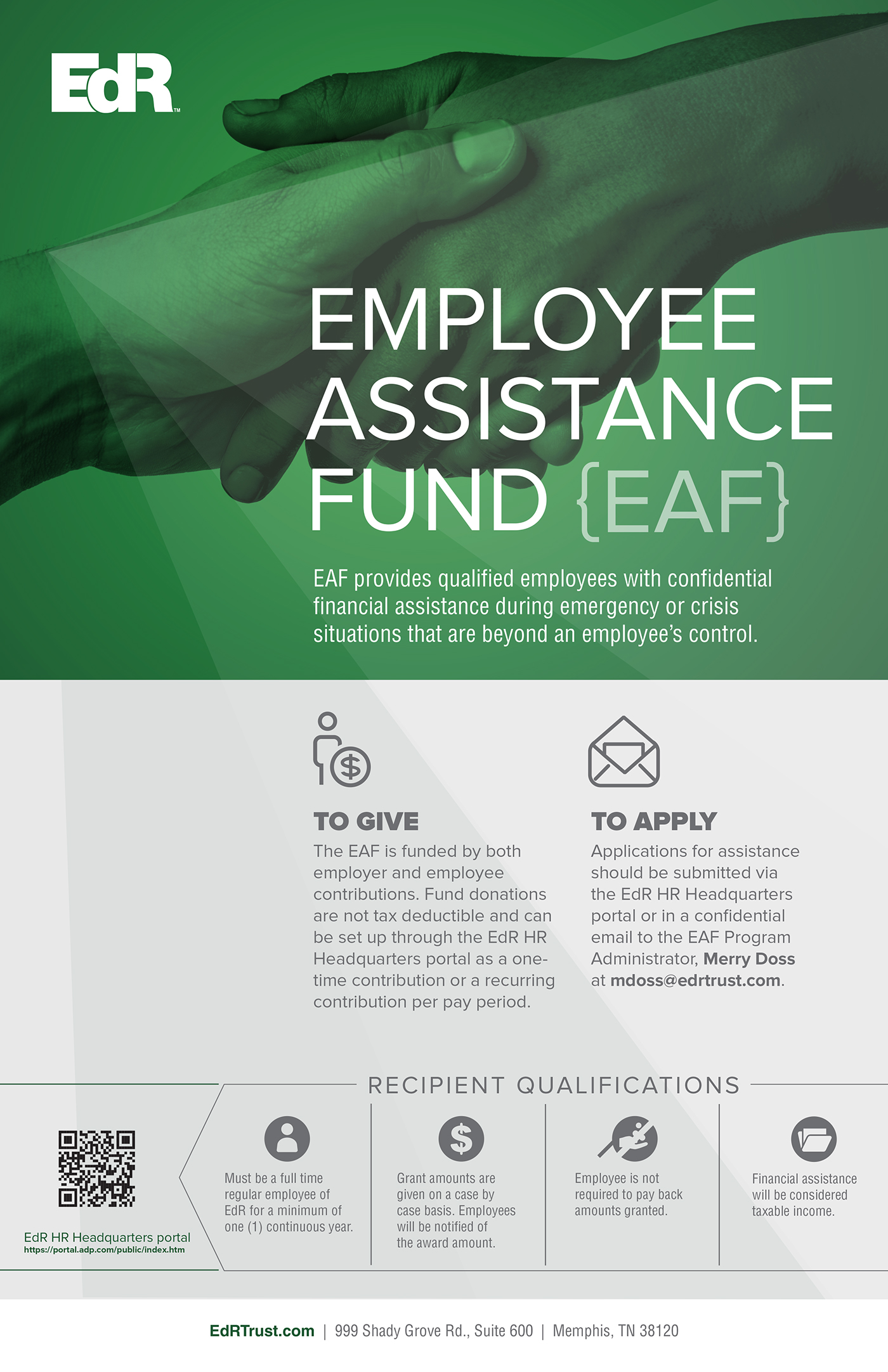 EdR Employee Assistance Fund Corporate Poster on Behance