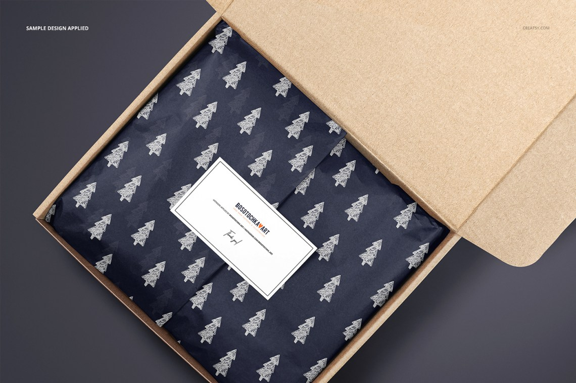 Download Mailer Box Wrapping Tissue Paper Mockup Set on Behance