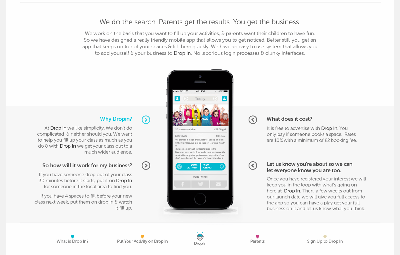 Drop In Kid S Activity App Web Amp Branding Concept On