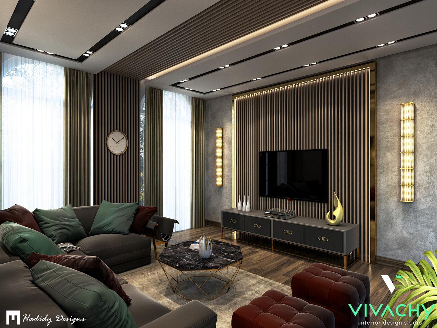 Modern Contemporary Living Room 5th Settlement On Behance