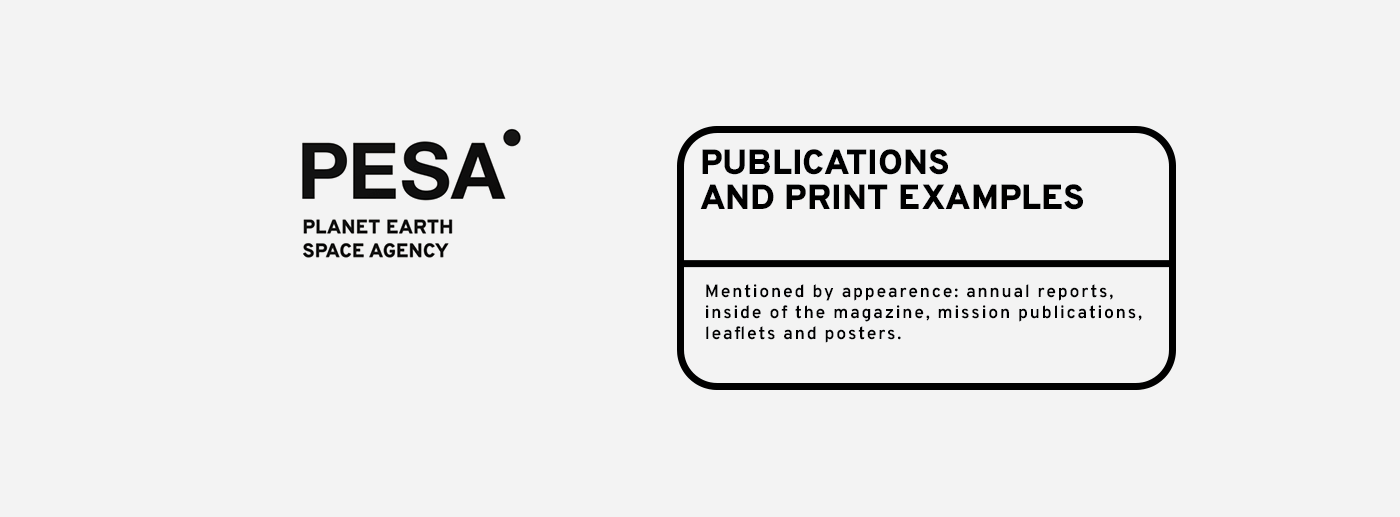 PESA—Planet Earth Space Agency Graphic Manual on Behance