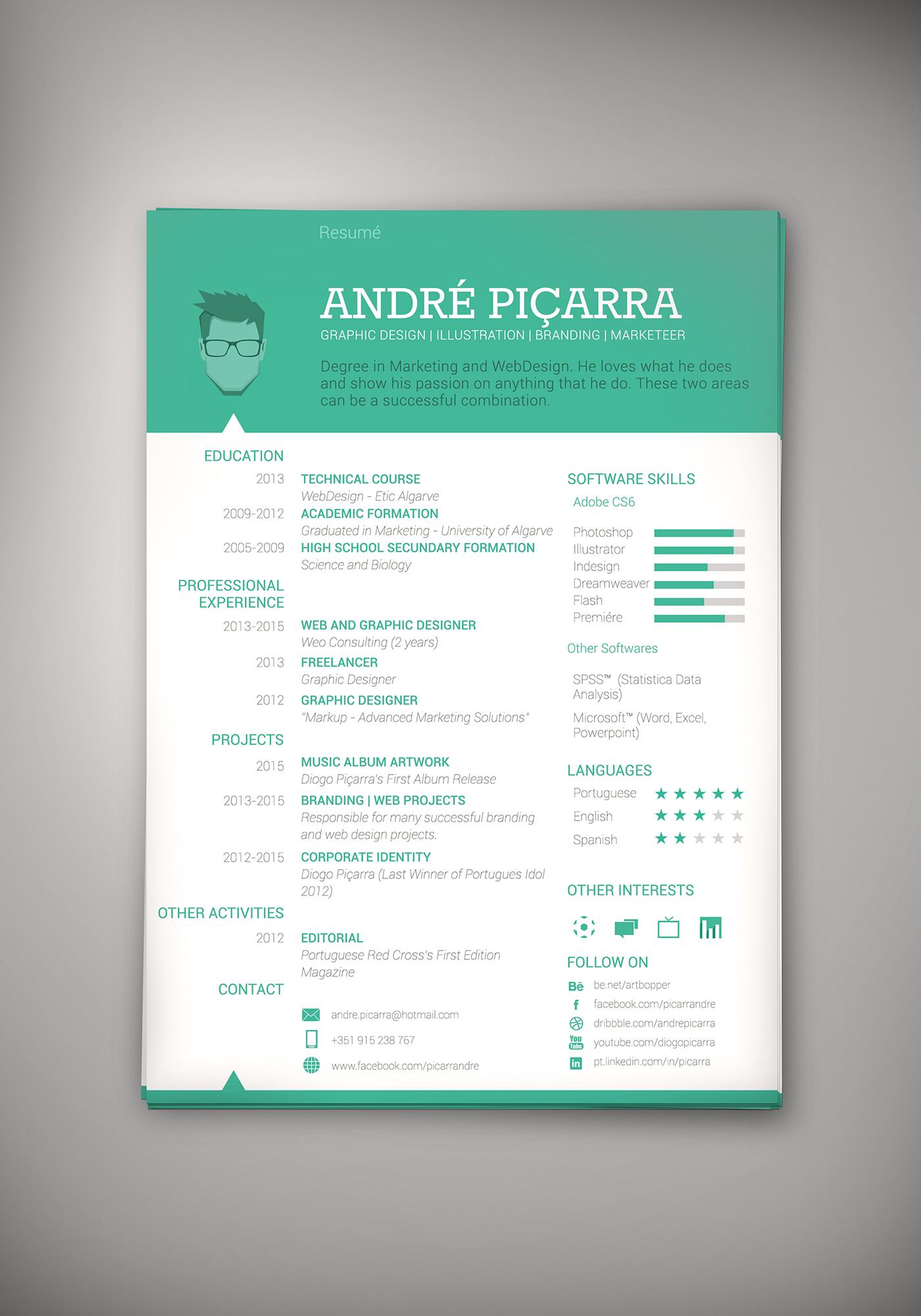 resume graphic design templates