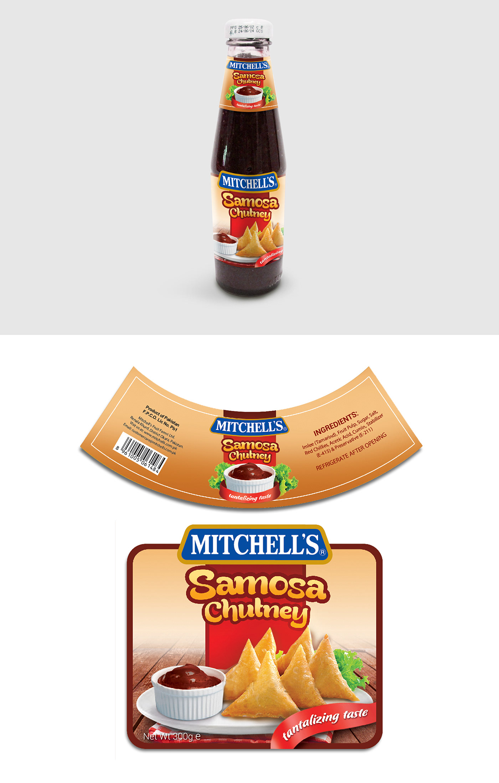 Mitchell's Samosa Chutney on Behance