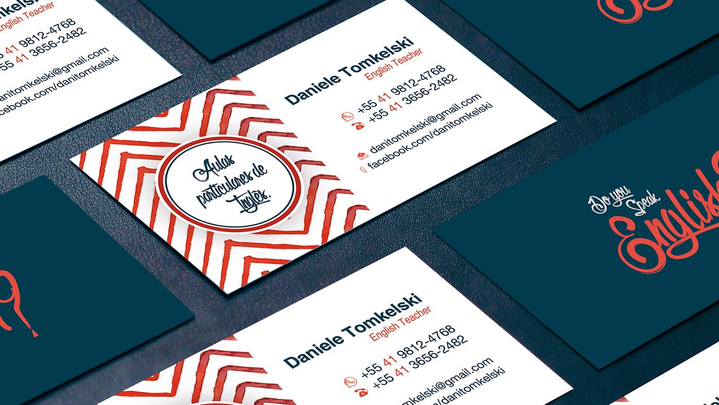 Business Card English Teacher On Behance