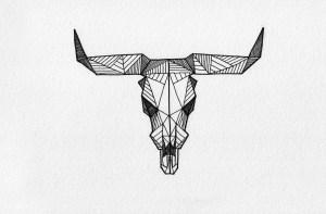 geometric drawings tattoo skull misc deer drawing sketch allison behance animals animal tattoos kunath stripe plain pattern drawn app