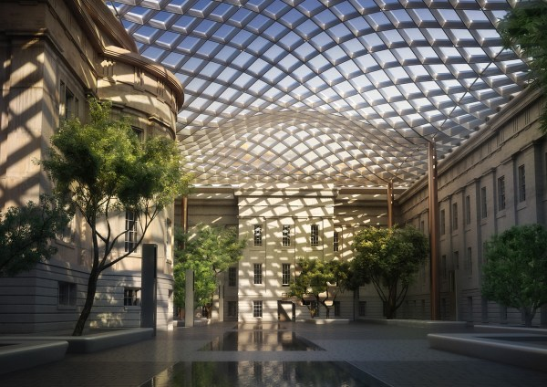 Smithsonian Portrait Courtyard Behance