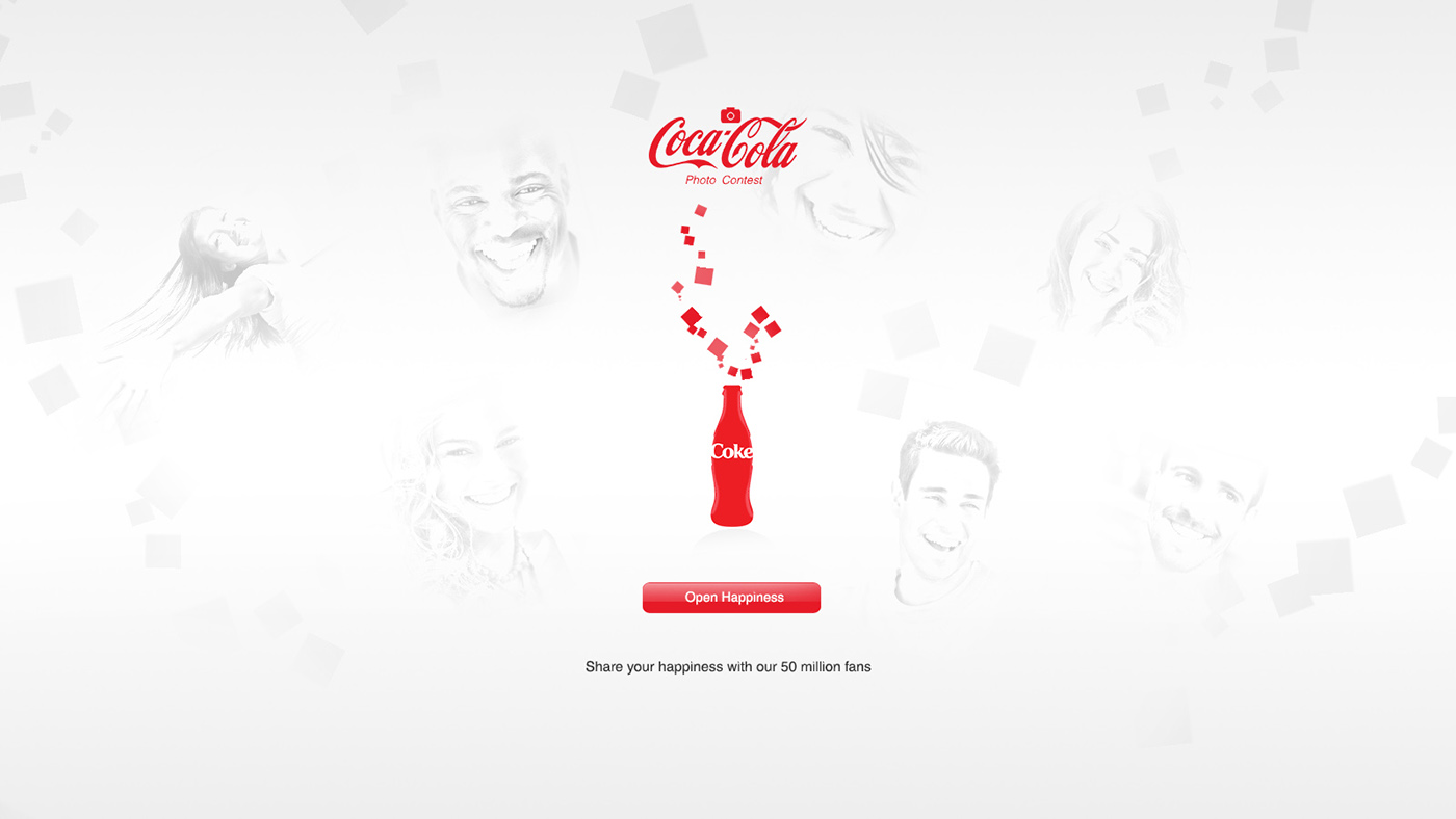 Coca-cola fan page on Behance