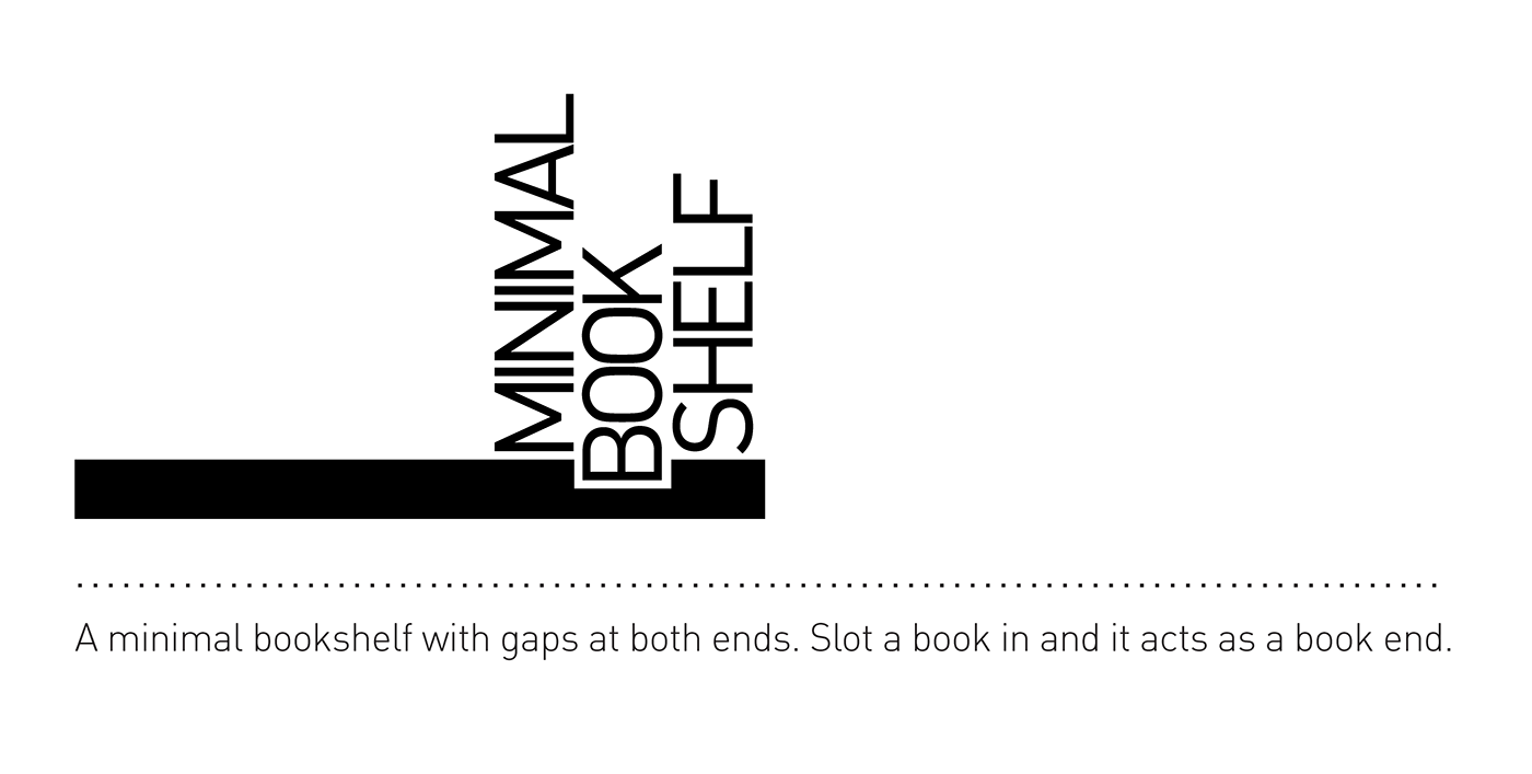 Minimal Bookshelf on Behance