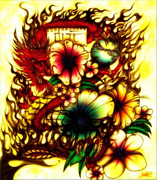 Airbrushed Art Work Of Jerry Cates Hardart Kustoms