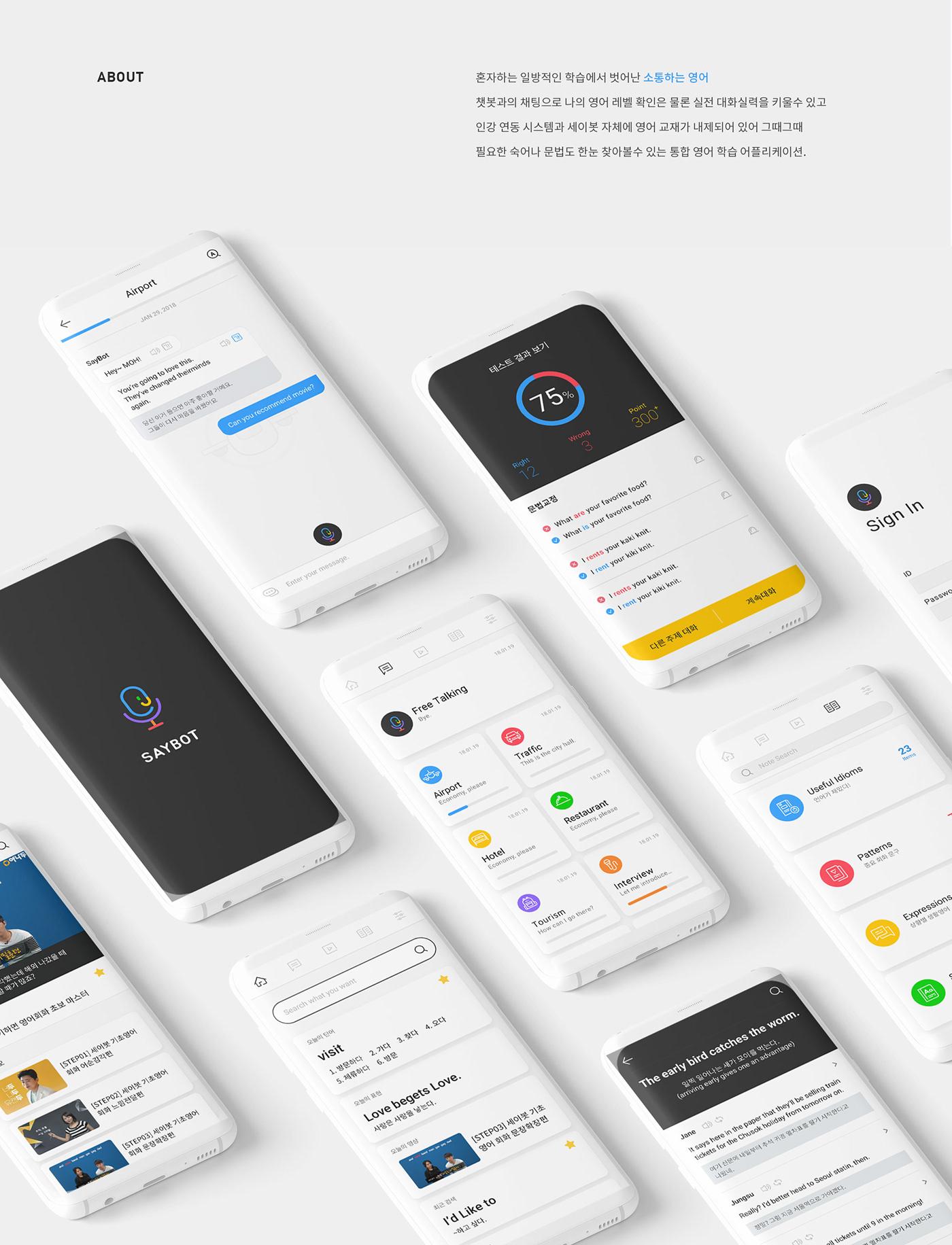 Saybot App - Study English with AI Chatbot on Behance