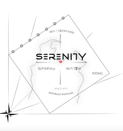 serenity spring water the very first drink label concept that i designed for one of my first graphic design projects i did during my studies  [ 1400 x 1299 Pixel ]