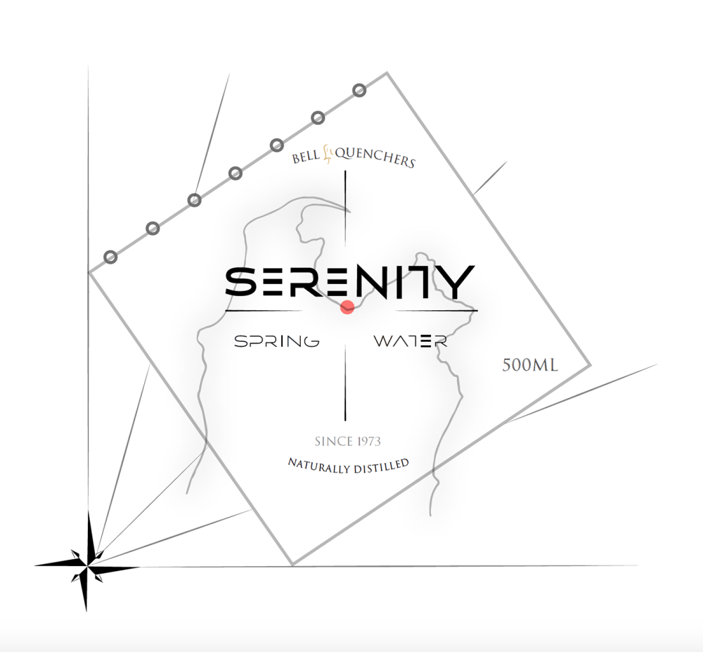 medium resolution of serenity spring water the very first drink label concept that i designed for one of my first graphic design projects i did during my studies