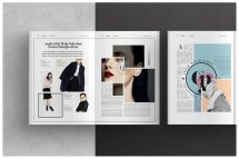 Fashion Magazine Layout Design