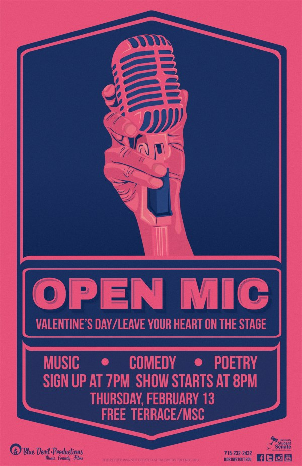 Open Mic Event Poster Media Series Behance