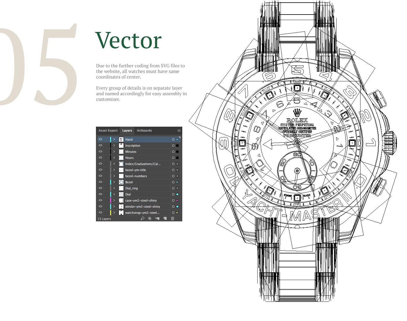 HQ vector from Rolex watches photos on Behance