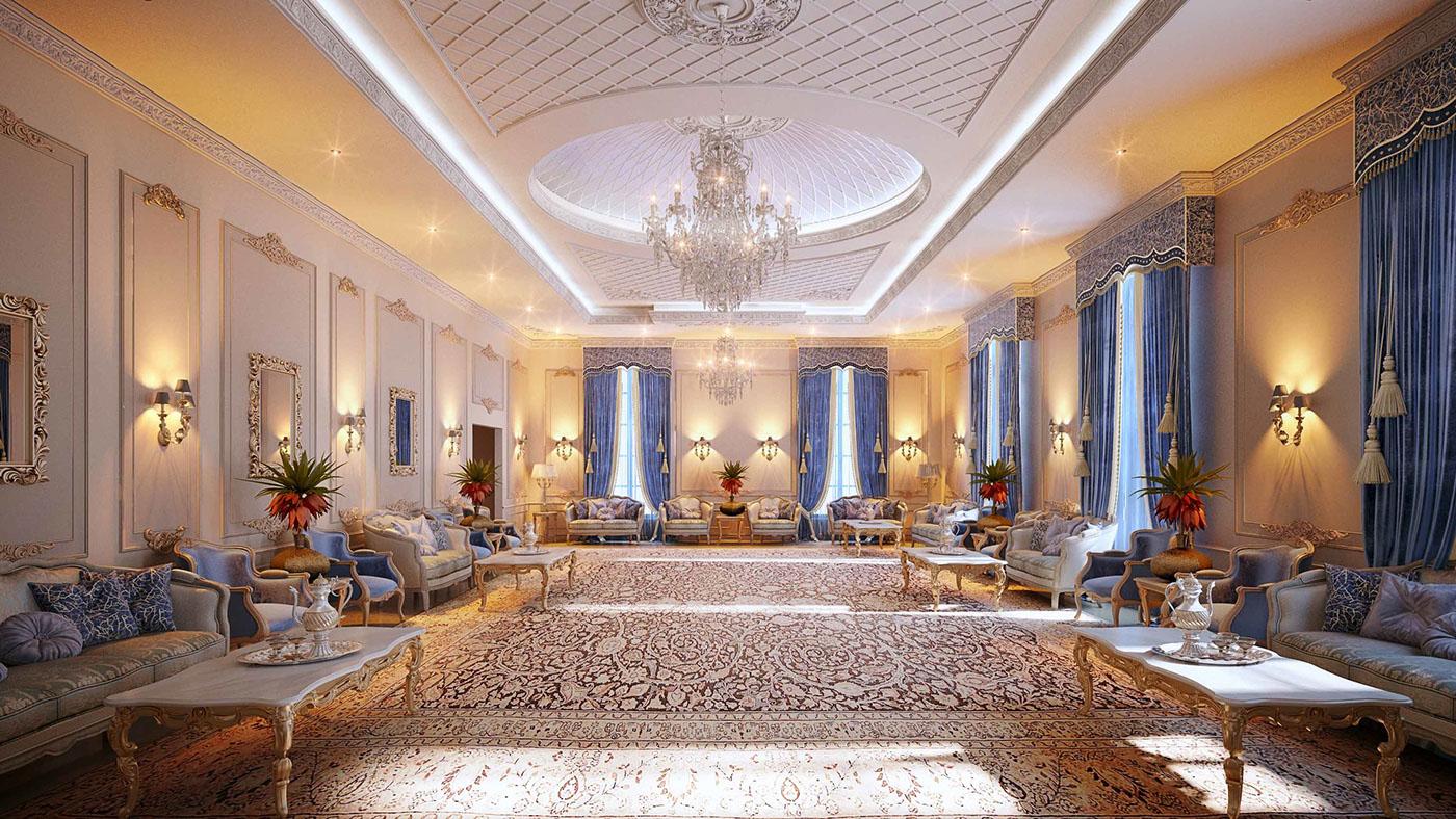 Royal Blue Majlis Doha Qatar On Behance