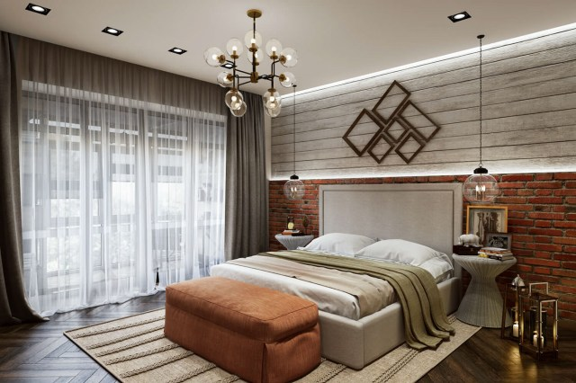 3d Rendering for a contemporary bedroom design. on Behance