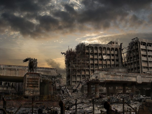 Destroyed City Matte Painting