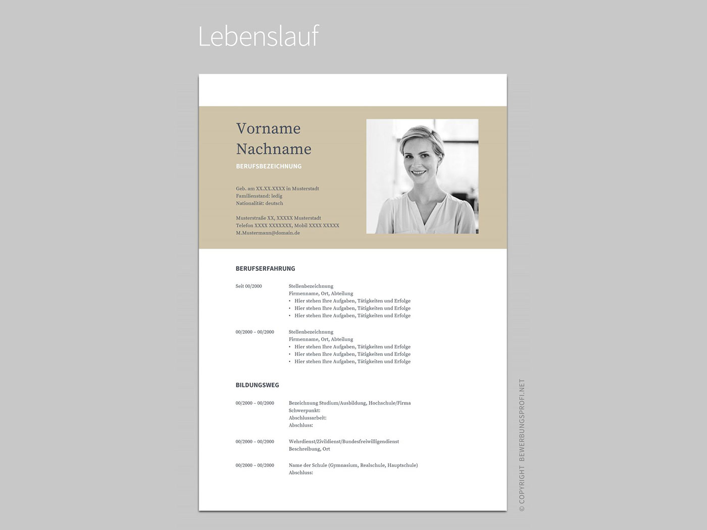 How To Create A Resume Template In Openoffice Free Resume Template Bewerbung Muster On Behance