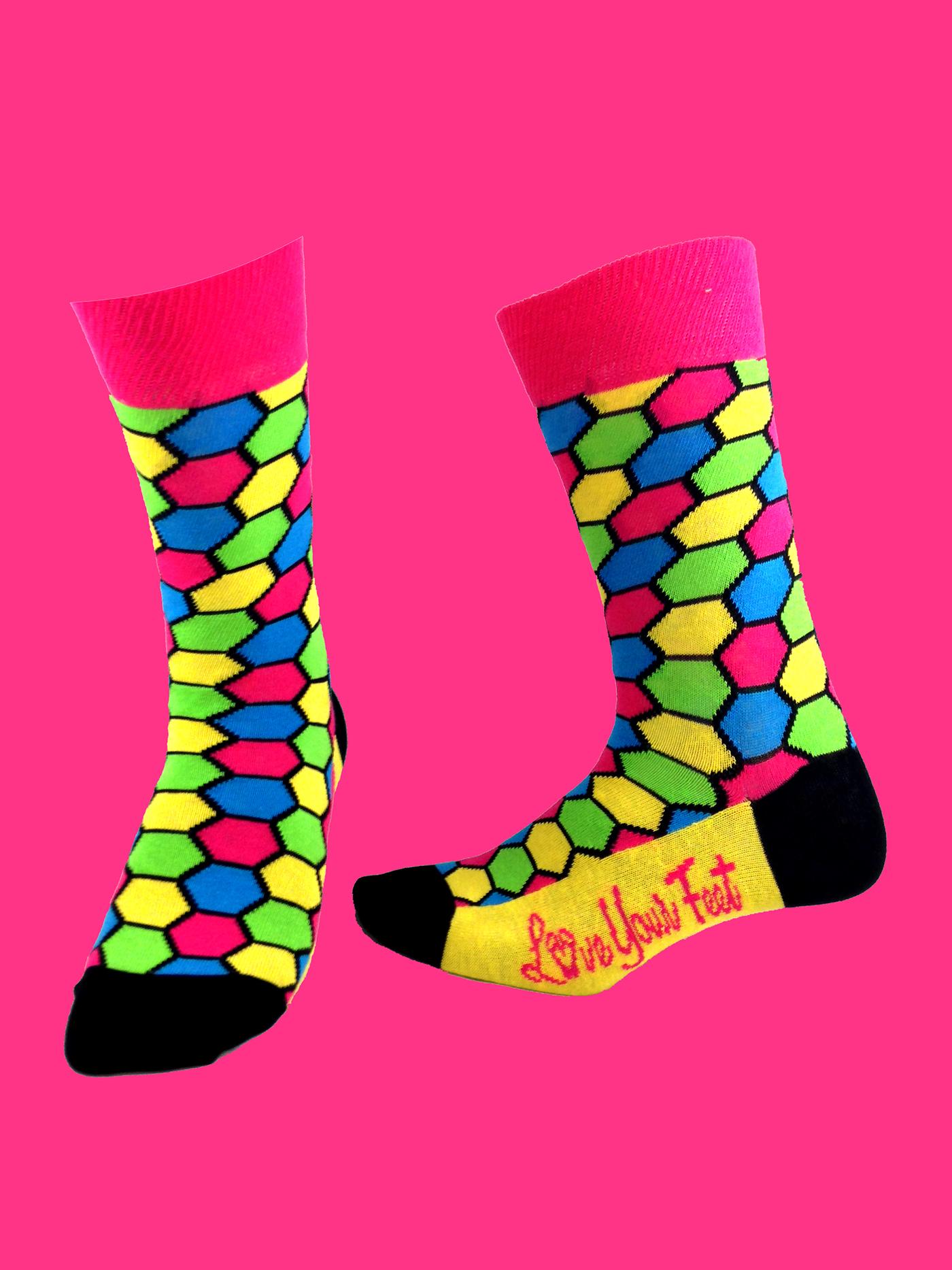 Love Your Feet Socks Debut LIne on Behance