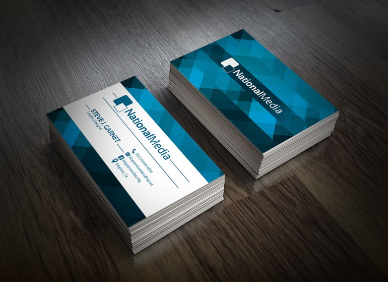 Free Professional Business Card 3 Color