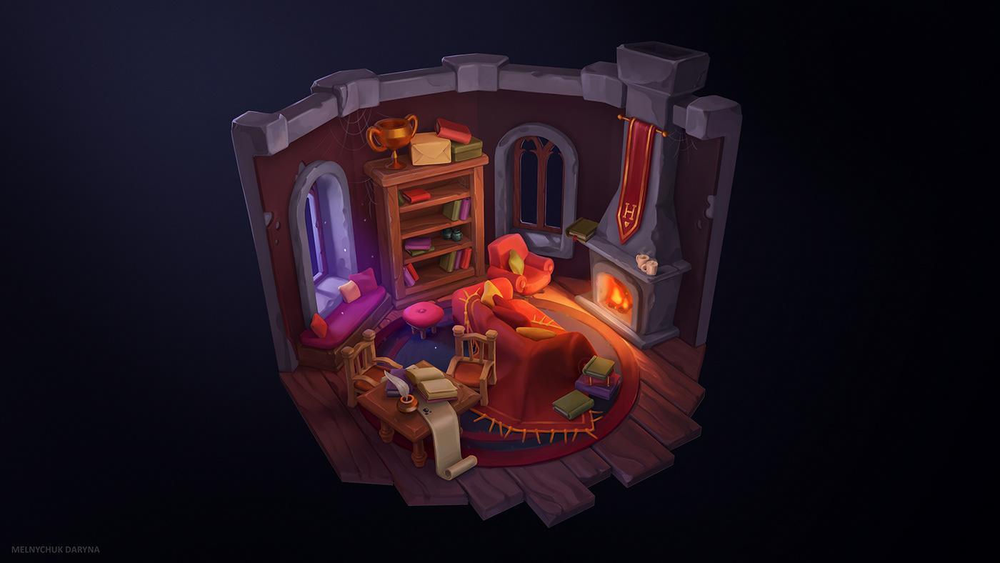 Gryffindor Common Room on Behance
