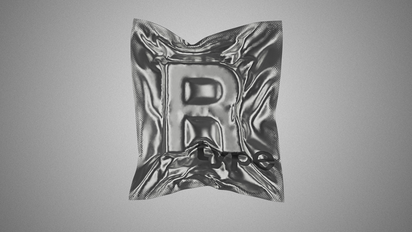 letters vacuum packed in foil on Behance