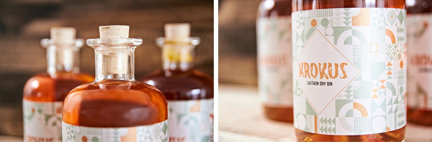 Krokus – Saffron Dry Gin on Behance