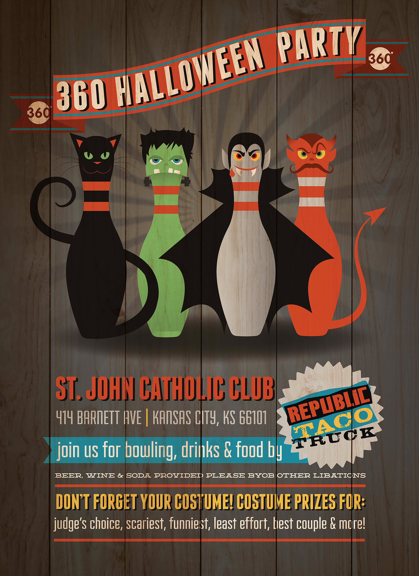 Halloween Bowling Poster on Behance