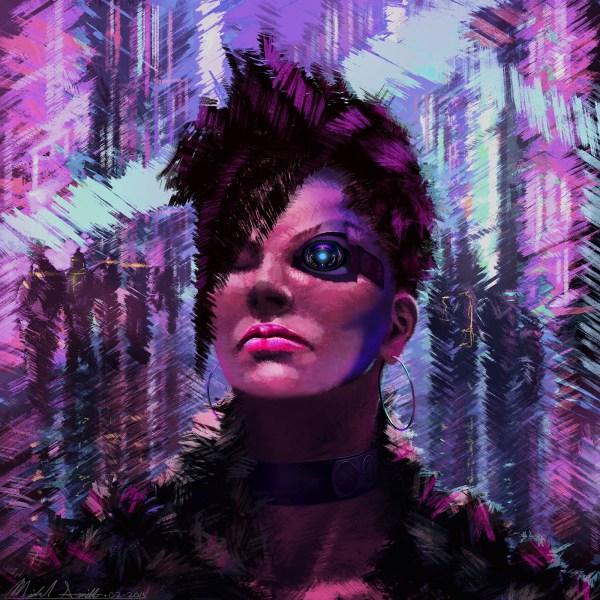 80s Cyberpunk Lady Behance