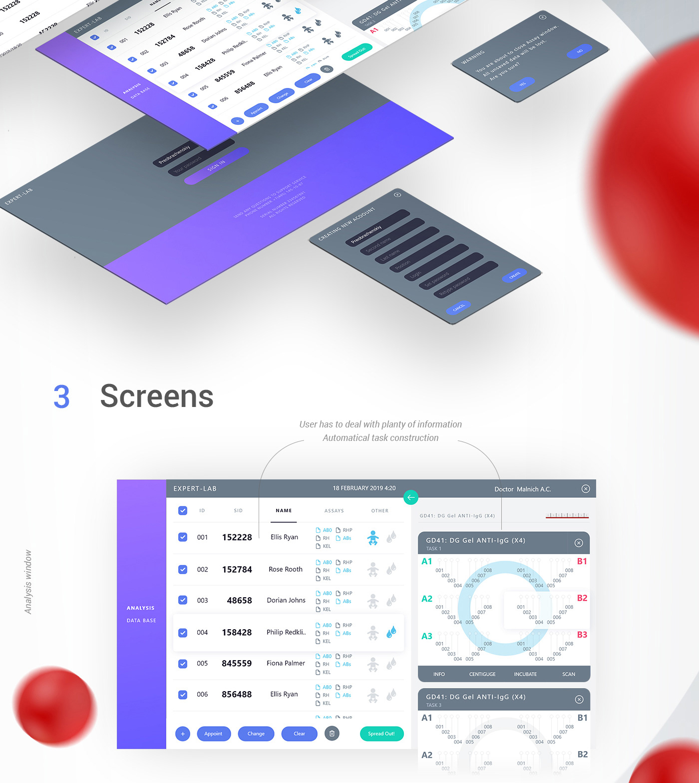 Blood Typing Software Medical Lab Device On Behance