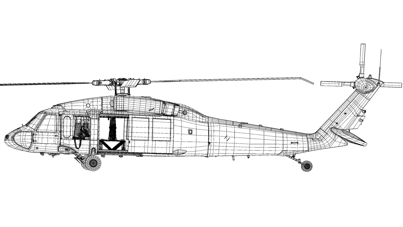 Blackhawk Uh60m On Behance