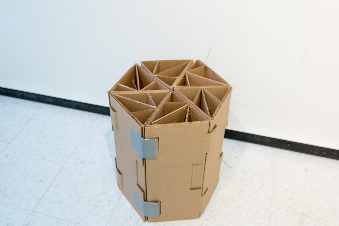 How To Make A Cardboard Chair Modular Reconfigurable Cardboard 39chair 39 On Behance