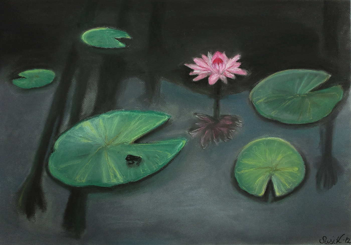 Tiny Frog On A Lily Pad On Behance