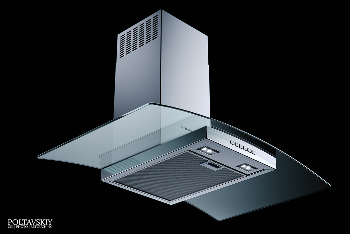 Bosch Glass Hood - CGI & Retouching on Behance