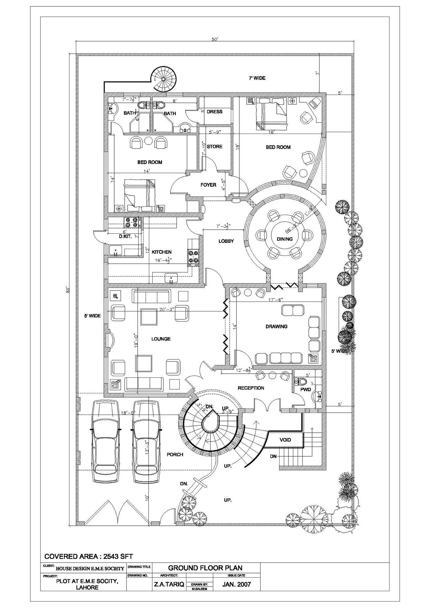 EME 2D Floor & Interior House Plan on Behance