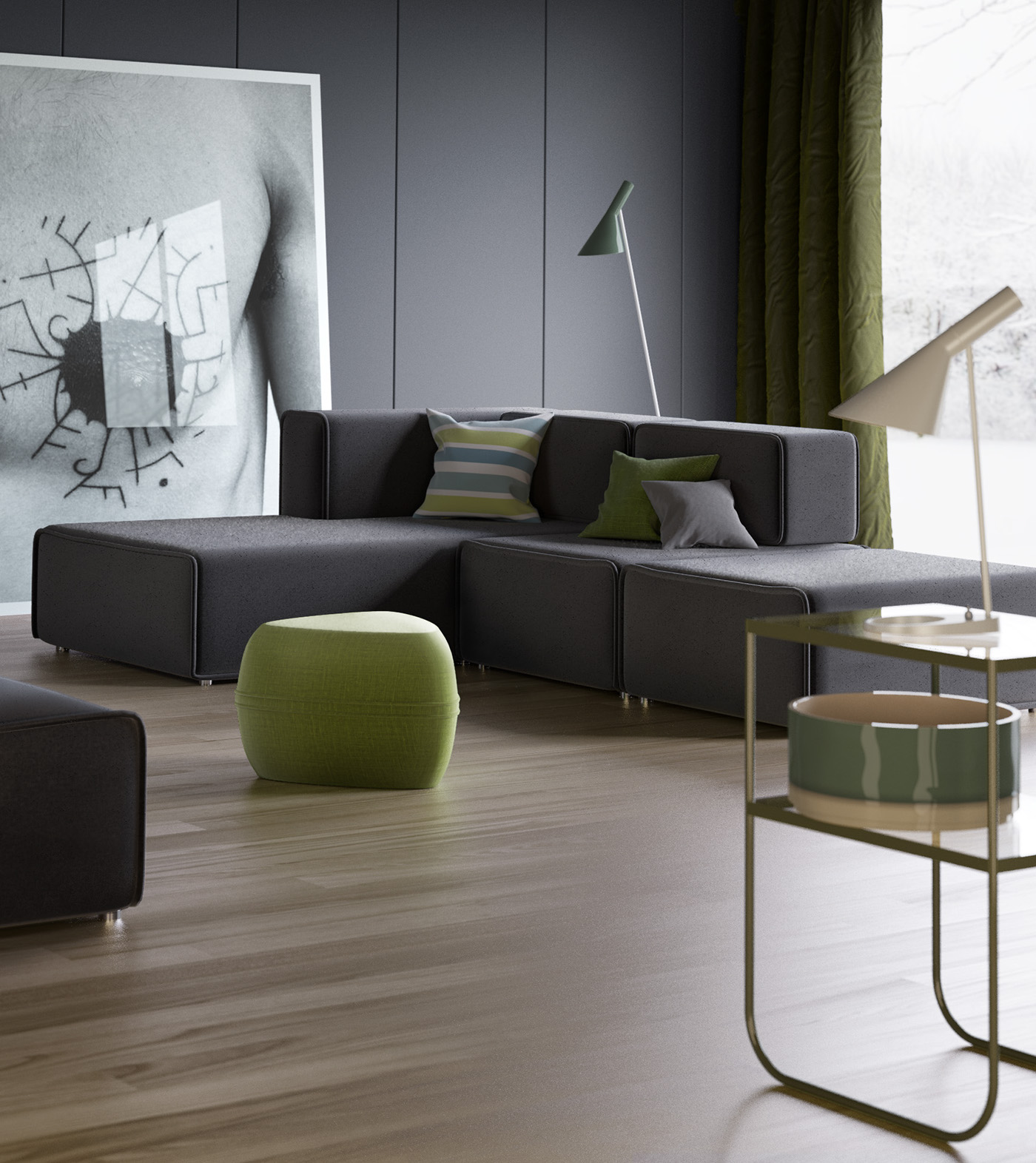 urban sofa gallery mid century modern style sleeper boconcept carmo on behance