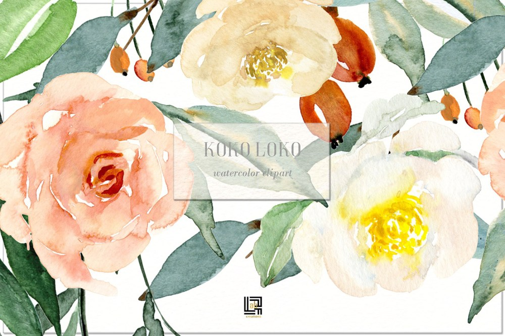 medium resolution of watercolor floral clipart free download