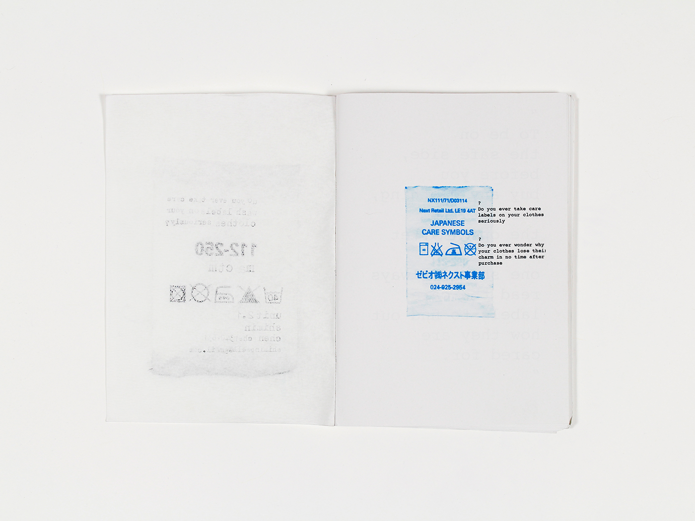 Zine / Wash Label and Fabric on Behance