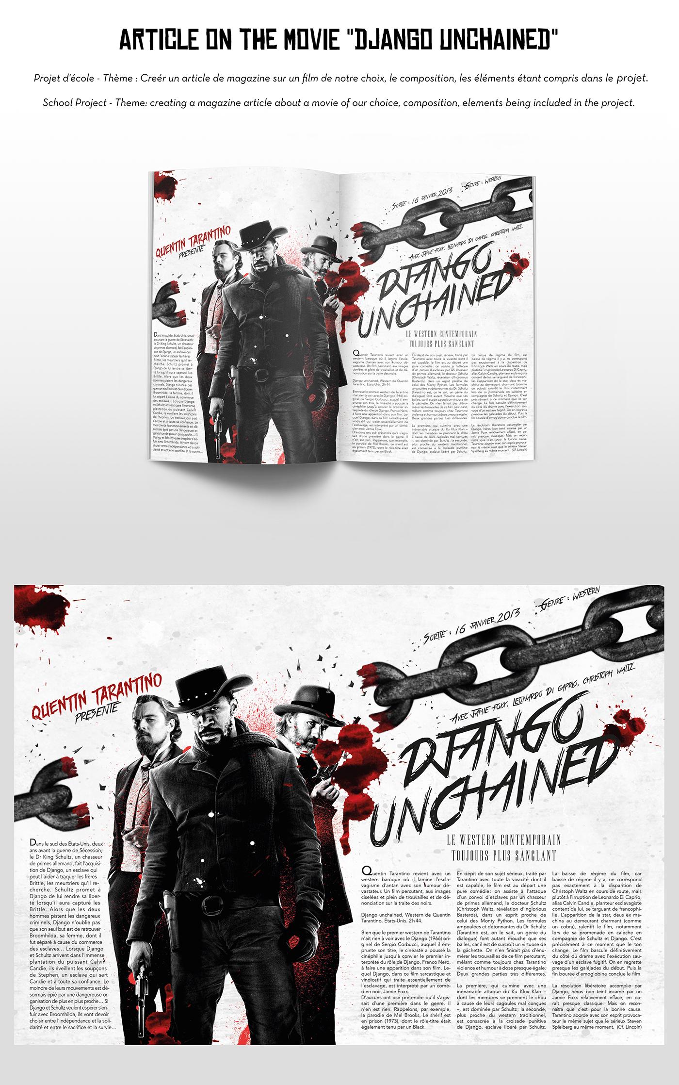 Editing for Django Unchained on Behance