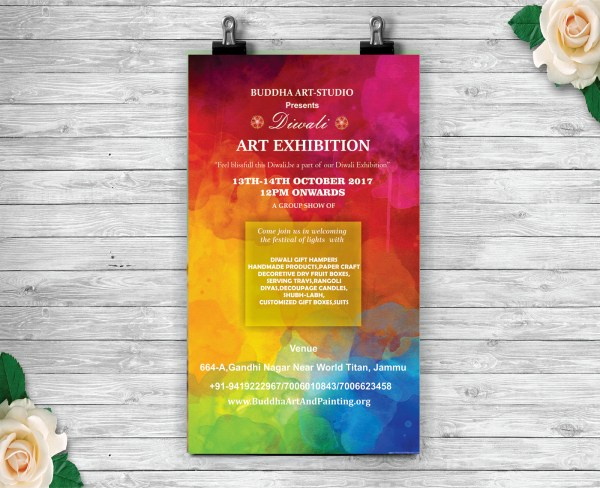 Invitation Card Art Exhibition Behance