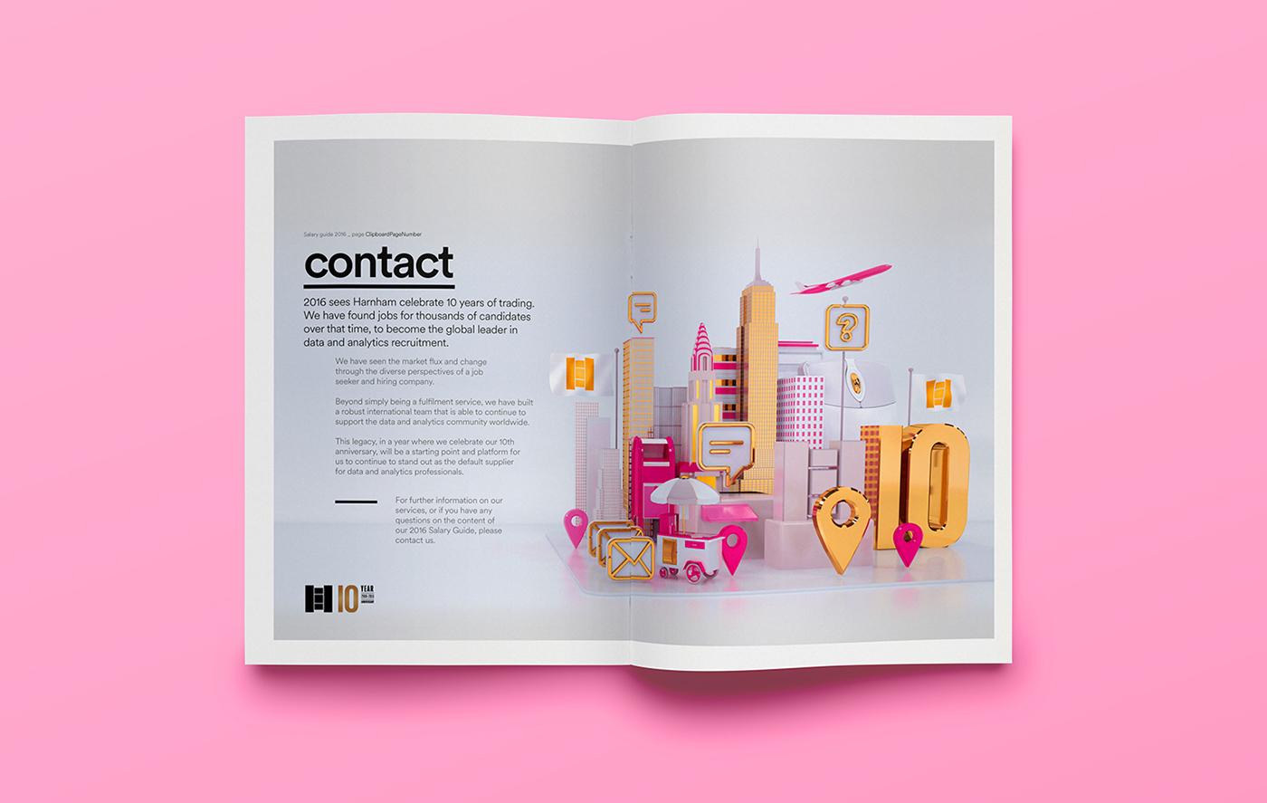 Illustration & Typography: Harnham Salary Guide (2016)