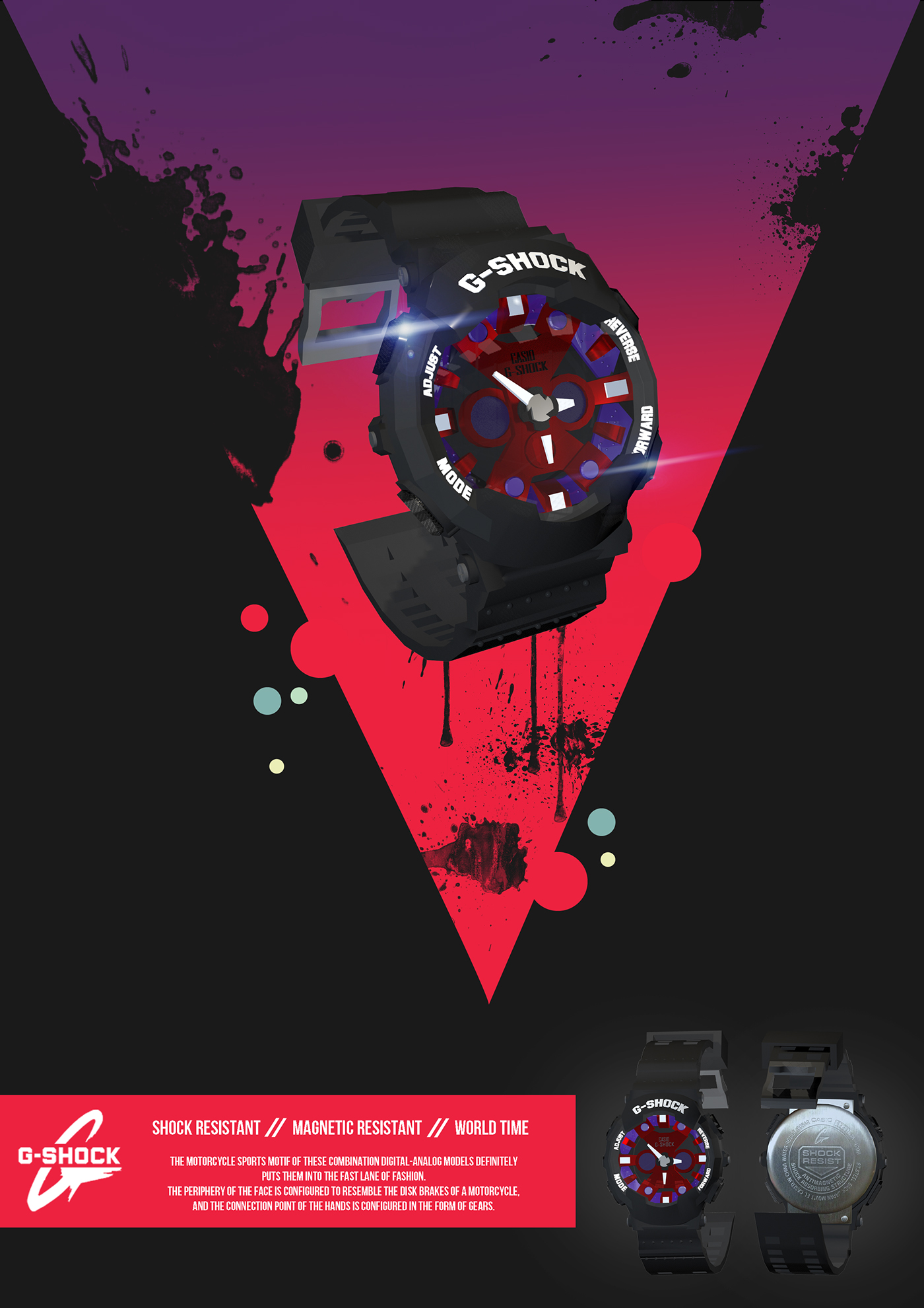 3d Wallpaper Malaysia G Shock Ga120b 3d Modeling Poster Design Tvc On Behance