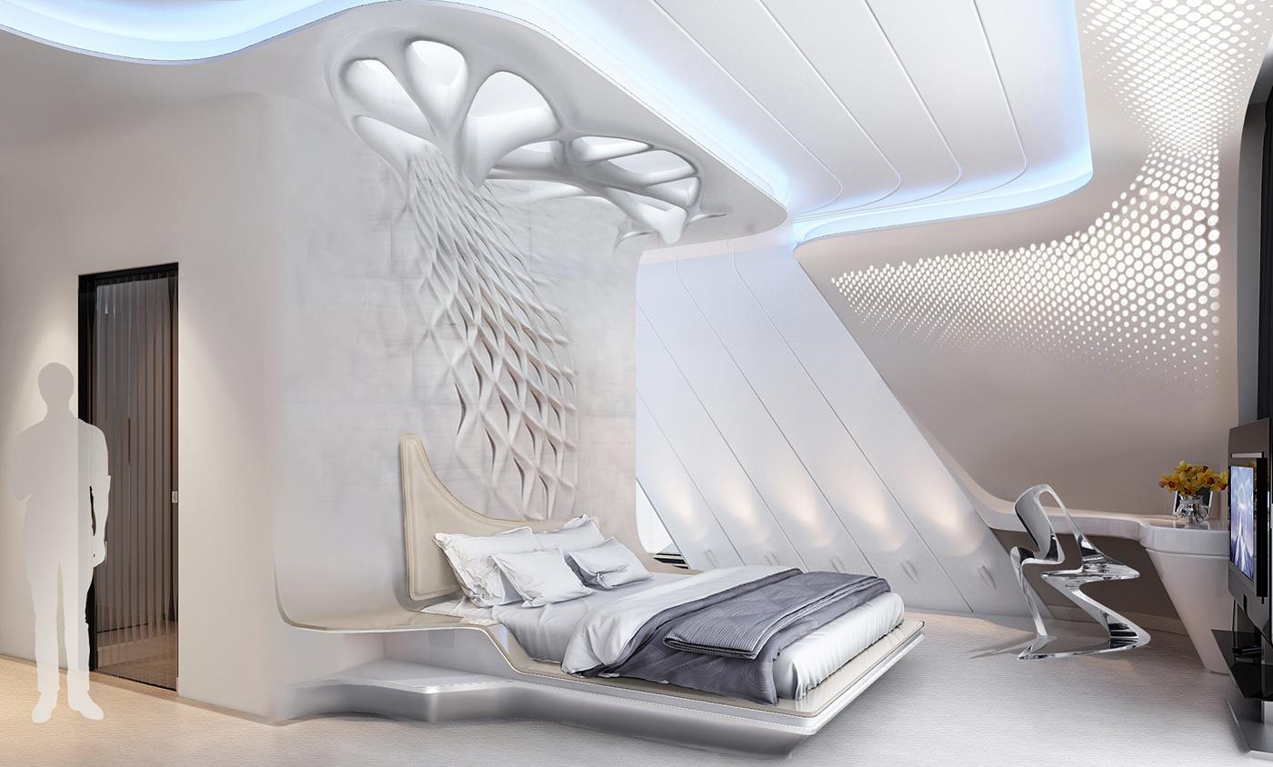 Parametric interior bedroom on Behance